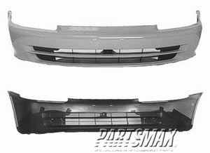 000250 | Front bumper cover; 4dr sedan; prime for a 1992-1995: HONDA, CIVIC