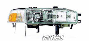 001160 | RT Headlamp assy composite; includes park/marker lamp for a 1990-1991: HONDA, ACCORD