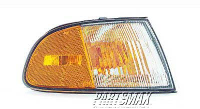 001290 | RT Front signal lamp; 2dr coupe/2dr hatchback; signal/marker lamp combo for a 1992-1995: HONDA, CIVIC