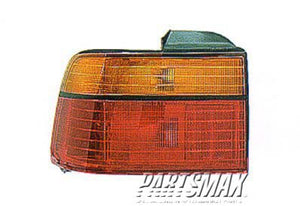 002220 | LT Taillamp lens/housing; 2dr coupe/4dr sedan; body mounted for a 1990-1991: HONDA, ACCORD