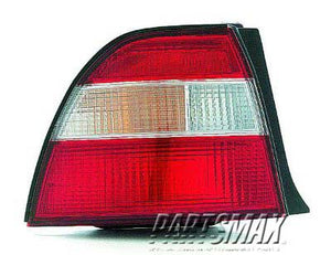 002230 | RT Taillamp lens/housing; 2dr coupe/4dr sedan for a 1994-1994: HONDA, ACCORD