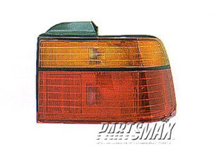 002230 | RT Taillamp lens/housing; 2dr coupe/4dr sedan; body mounted for a 1990-1991: HONDA, ACCORD