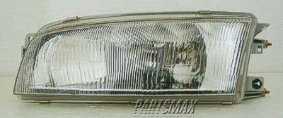 001150 | LT Headlamp assy composite; 4dr sedan for a 1997-2002: MITSUBISHI, MIRAGE