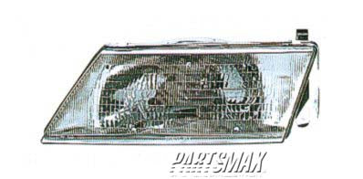 001150 | LT Headlamp assy composite; all for a 1995-1997: NISSAN, 200SX