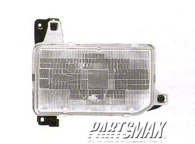 001160 | RT Headlamp assy composite; all for a 1987-1995: NISSAN, PATHFINDER