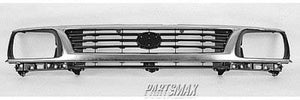 000860 | Grille assy; 2WD; bright & black for a 1995-1996: TOYOTA, TACOMA
