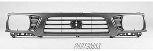 000860 | Grille assy; 4WD; bright & black for a 1995-1997: TOYOTA, TACOMA
