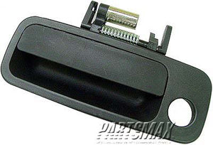 001680 | LT Front door handle outer; USA built; black - paint to match for a 1997-2001: TOYOTA, CAMRY