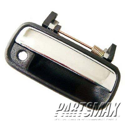 001690 | RT Front door handle outer; black & bright for a 1989-1995: TOYOTA, PICKUP