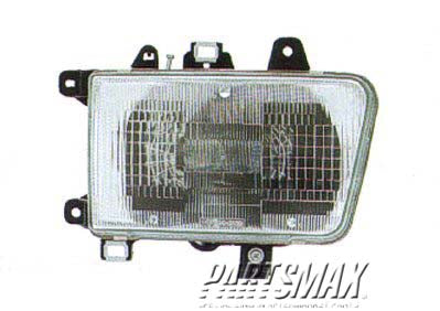 001160 | RT Headlamp assy composite; w/composite lamps for a 1992-1995: TOYOTA, 4RUNNER