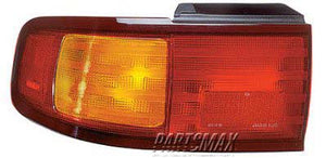 002070 | LT Taillamp assy; 2dr coupe/4dr sedan; Japan built for a 1995-1996: TOYOTA, CAMRY