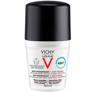 VICHY Men Anti Stains Deo Roll on Shirt Protection 48hours 50ml