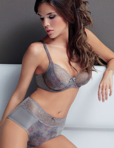 Luxury Semi Sheer Lace Trim Demi Bra - Thumb Slider