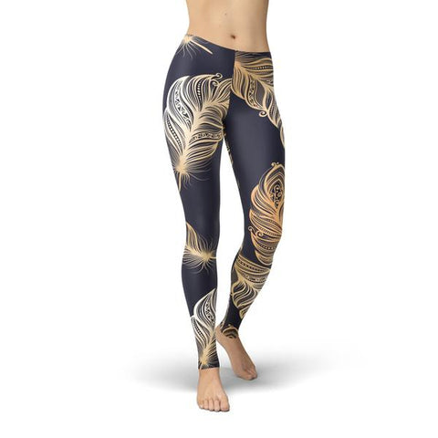 Jean Peacock Feathers Leggings - Thumb Slider