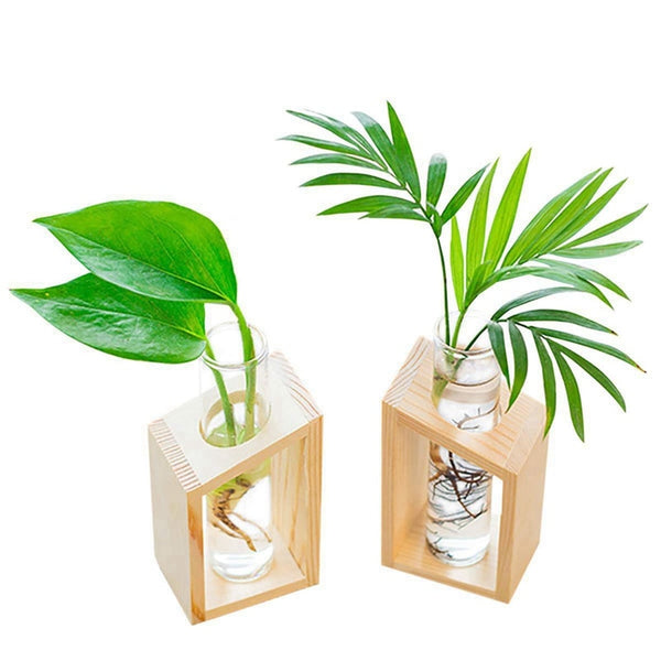 Wooden Stand Flower Pots for Garden Decoration - Thumb Slider