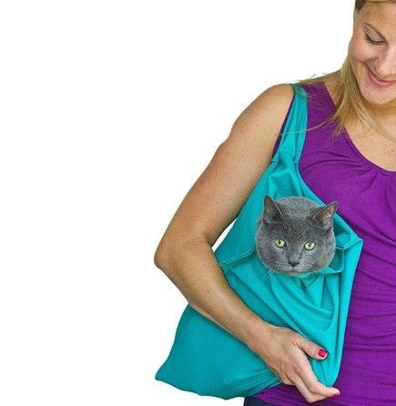Cat Travel Carrier Shoulder Pouch - Thumb Slider