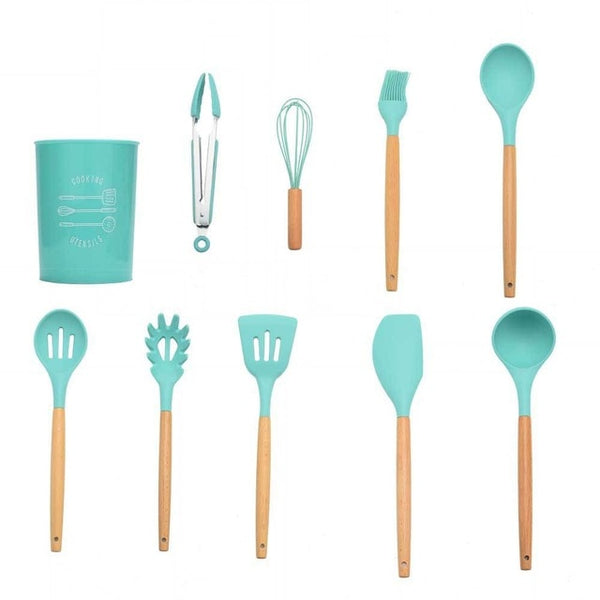 Silicone Cooking Set Kitchen Tools - Thumb Slider