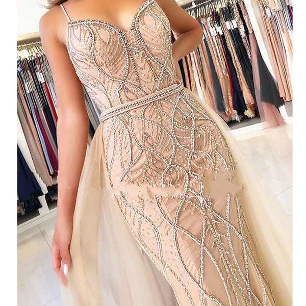 Luxury Pearls Crystal Evening Gowns - Thumb Slider