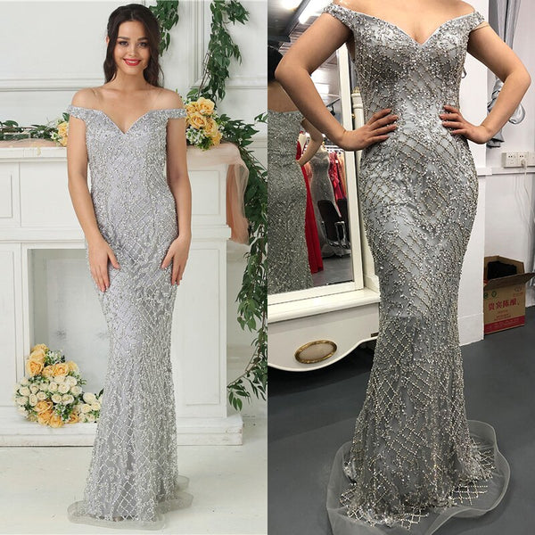 Luxury Mermaid Evening Dress - Thumb Slider