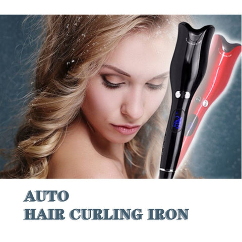 Automatic Electric Hair Curler Iron - Thumb Slider
