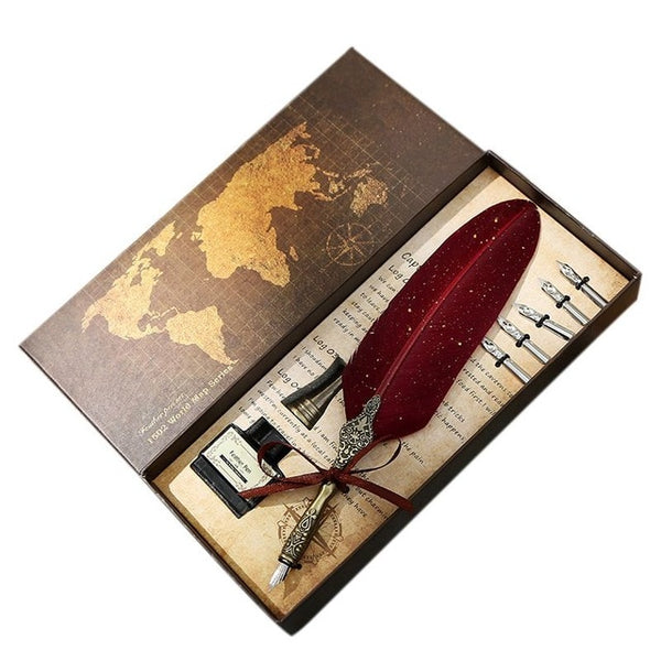 English calligraphy Feather Pen Gift Set - Thumb Slider