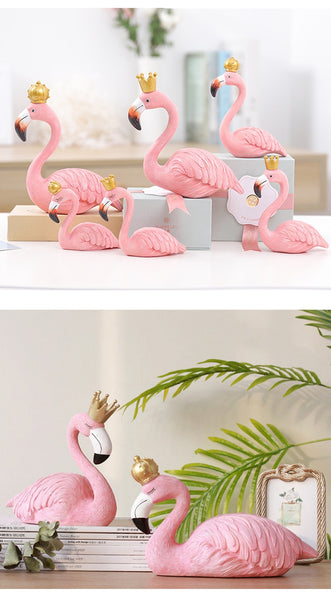 Flamingo home decoration desk statue ornaments - Thumb Slider