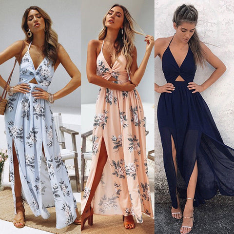 Boho Summer Elegant Floral Long Dress - Thumb Slider