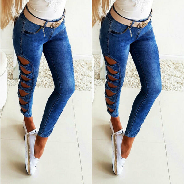 Denim Jeans Pencil Trousers - Thumb Slider