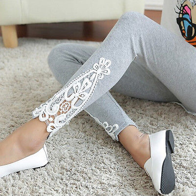 Lace Crochet Fitness Leggings - Thumb Slider