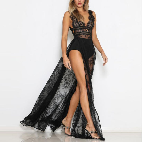 Sexy Lace Sleeveless Party Club Long dress - Thumb Slider