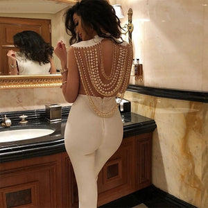 Women Jumpsuit  Elegant Sexy Backless Rompers - Thumb Slider