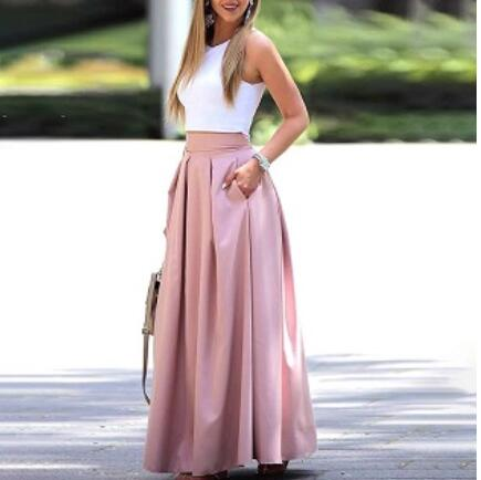Women Casual Maxi Skirt Sets - Thumb Slider