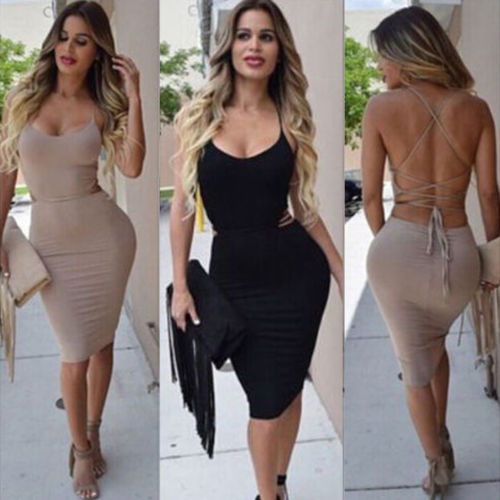 Summer Backless Bandage Dress - Thumb Slider