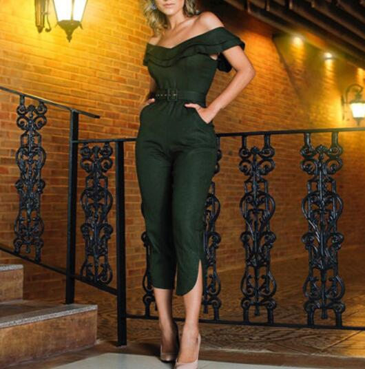 High waist jumpsuits overalls - Thumb Slider
