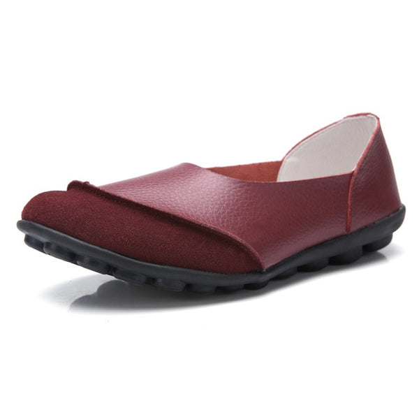 Woman Soft Flat Leather Shoes - Thumb Slider