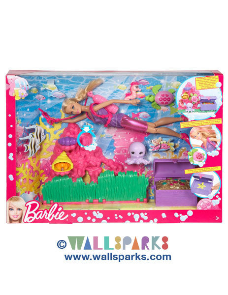 Ocean Treasure Explorer Barbie Doll Playset