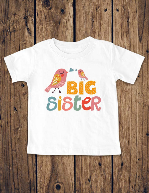 Big Sister Birds Design 1 - Baby Birth Pregnancy Announcement Infant, Toddler, Youth Shirt