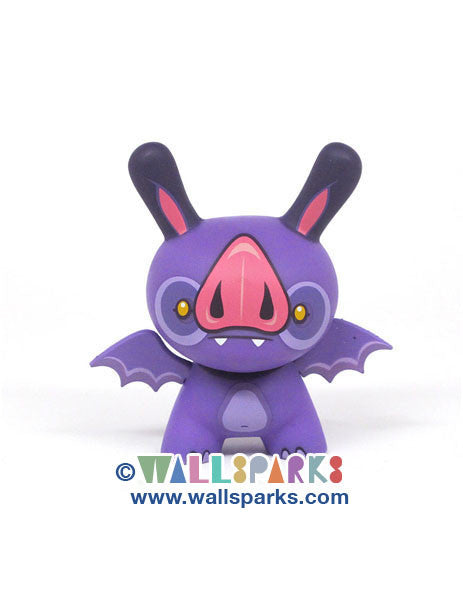 Dunny 2013 Sideshow Series Okkle Purple Bat Vinyl Figure Kidrobot Designer Toy