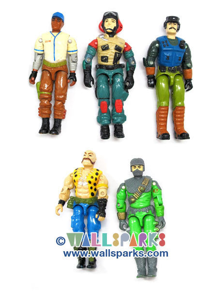 G.I. Joe Vintage 5 Action Figures Group 001