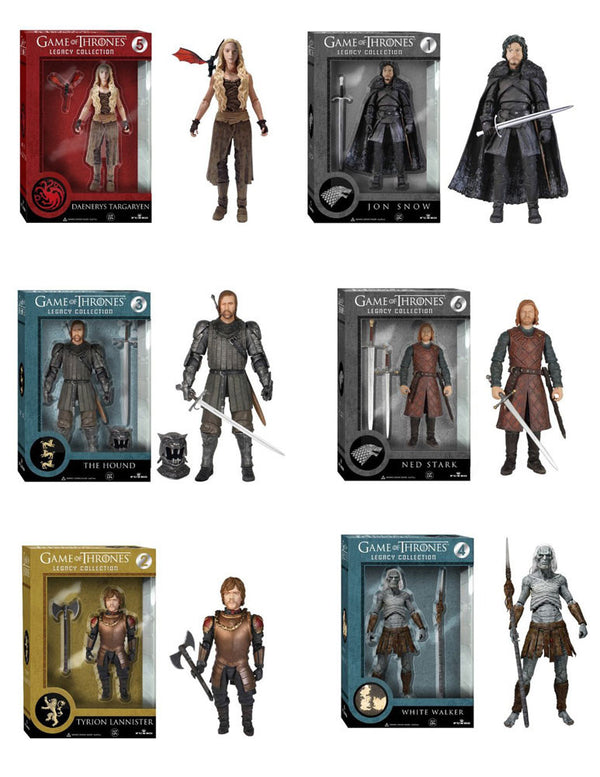 Game of Thrones GOT Funko Legacy Action Figures Complete Set of 6 Figures - Jon Snow Daenerys Targaryen White Walker