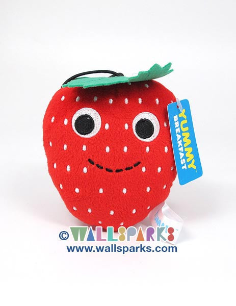 YUMMY Breakfast Kidrobot Small 4-inch Plush Strawberry Fruit