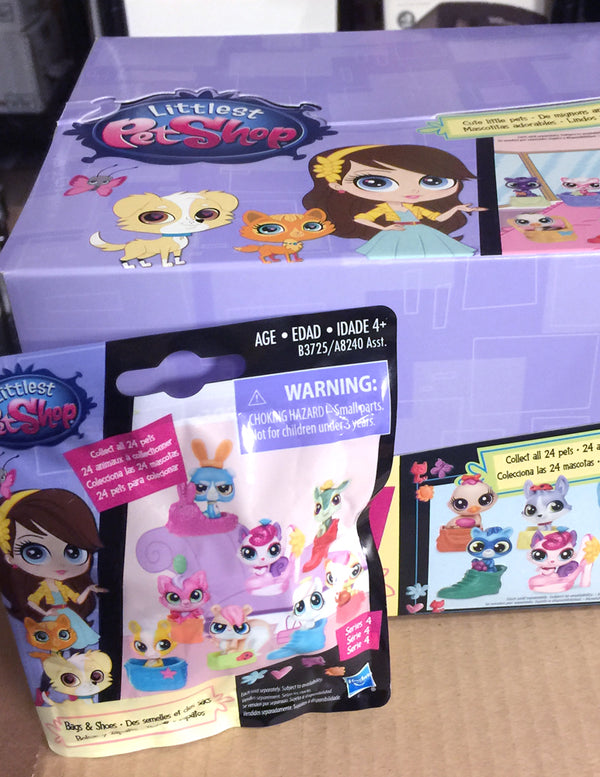 Littlest Pet Shop LPS Blind Bags Surprise Mystery Pets - Bags & Shoes Series 4 - Complete Full Box