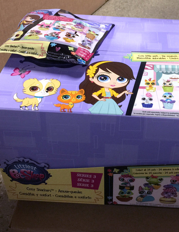 Littlest Pet Shop LPS Blind Bags Surprise Mystery Pets - Cozy Snackers Series 3 - Complete Full Box