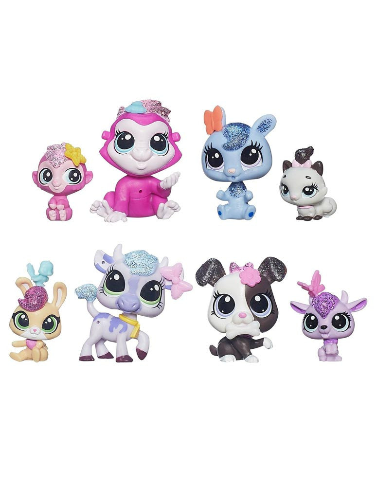 Littlest Pet Shop Glitter Pets 8 Pack #4080-4087 - Exclusive Set