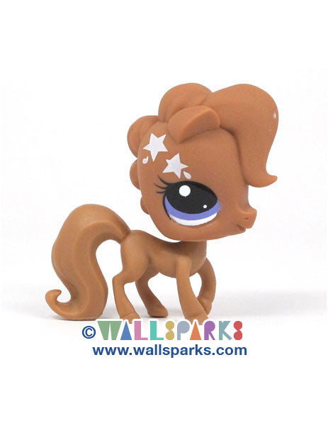 Littlest Pet Shop Paint Splashin' Pets Chestnut Pony Horse #3511