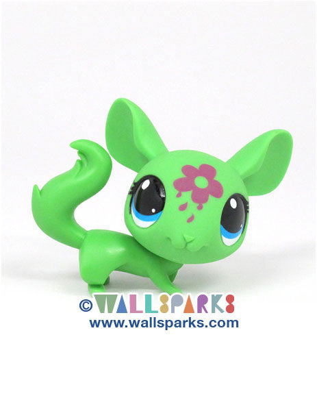 Littlest Pet Shop Paint Splashin' Pets Green Chinchilla #3514