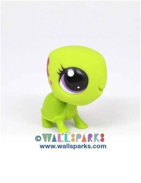 Littlest Pet Shop Paint Splashin' Pets Green Garden Turtle #3524