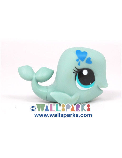 Littlest Pet Shop Paint Splashin' Pets Whale with Blue Hearts #3527