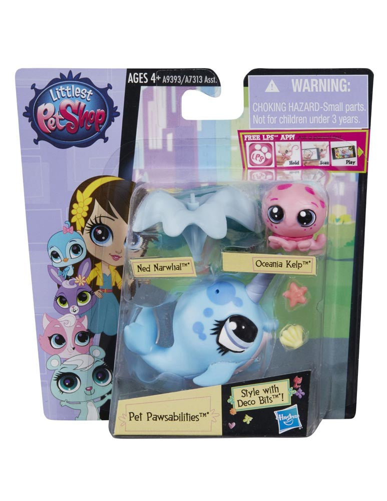 Littlest Pet Shop Pet Pawsabilities Ned Narwhal & Oceania Kelp
