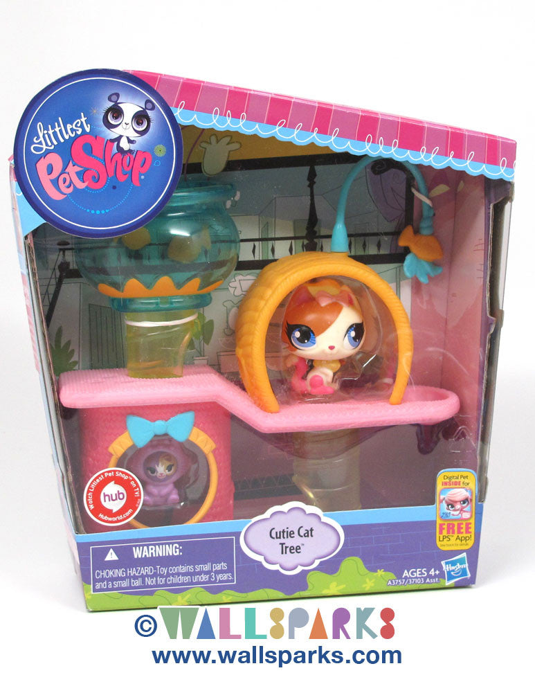 Littlest Pet Shop LPS Cutie Cat Tree Playset